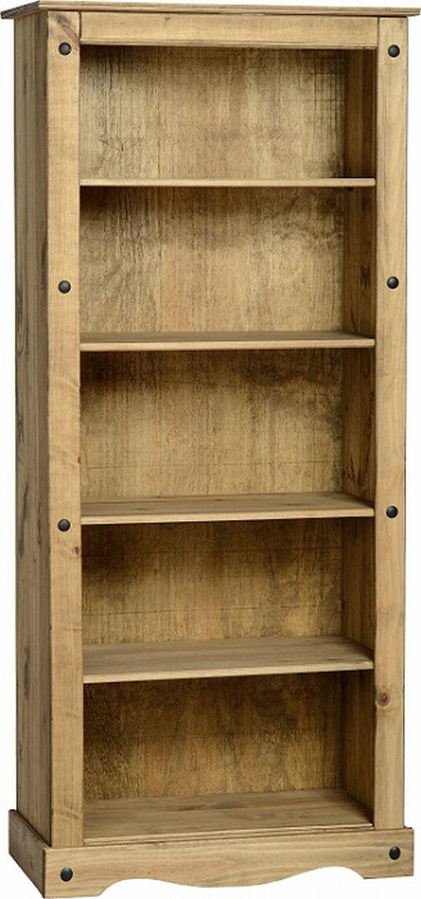 Corona Tall Bookcase 10400  Mexican Pine  Corona