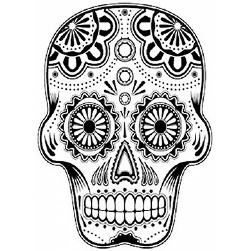 Decorative Skull Cardboard Coloring Cutout