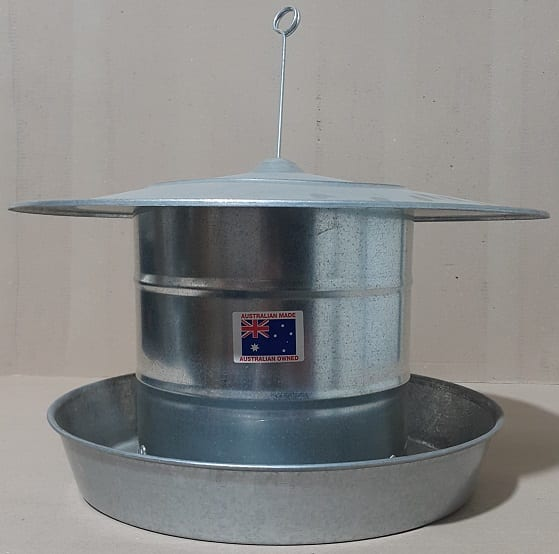 Hanging Chicken Feeder with Hood