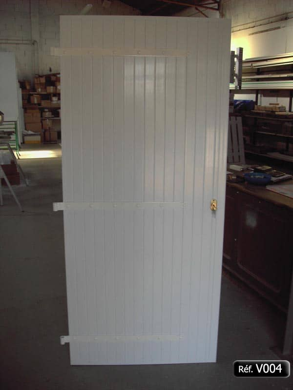 Volet battant PVC de porte avec quincaillerie aluminim