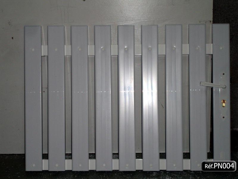 Portillons PVC avec cadre aluminium