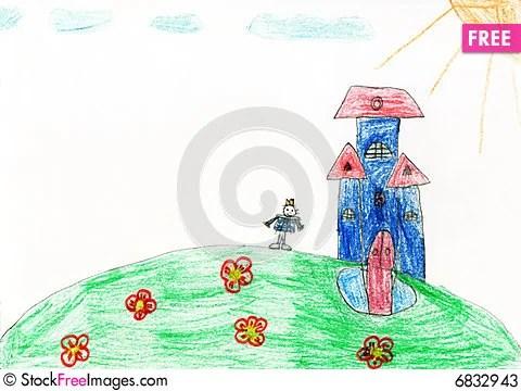 Free Children S Paint Magic House Stock Photos - 6832943