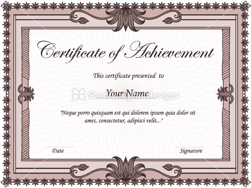 certificate boders