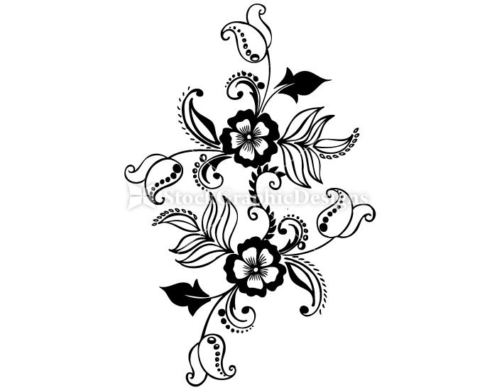 Hand Drawn Floral Set 13