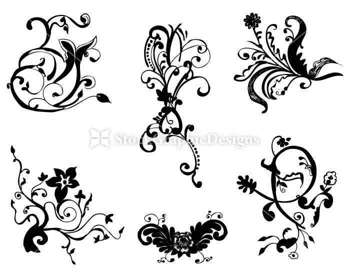 Corner Design Vector | Vector & Photoshop Brushes | Stock