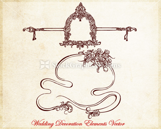 Ornamental wedding decoration elements vector vector photoshop preview junglespirit Image collections