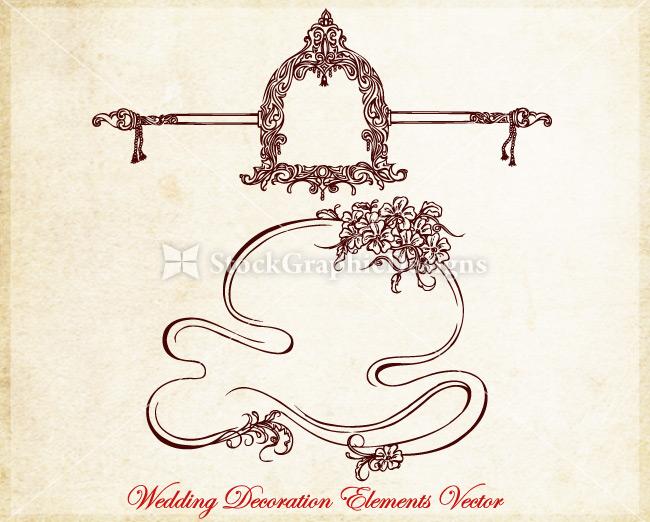 Ornamental wedding decoration elements vector vector photoshop preview junglespirit Choice Image