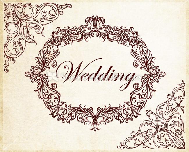 Ornamental wedding decoration elements vector vector photoshop no of designs junglespirit Image collections