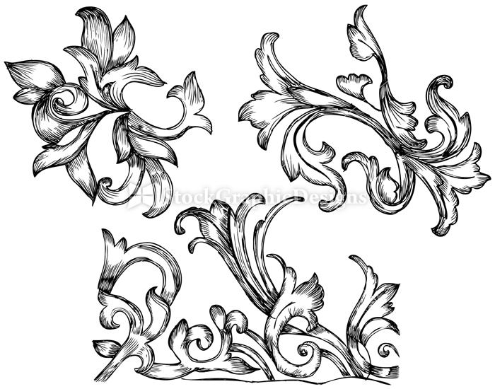 Hand Drawn Floral Set2