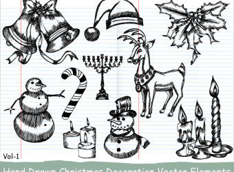 hand-drawn-christmas-decoration-vector-elements-v1