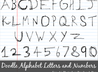 hand-drawn-doodle-alphabet-letters-numbers-vector-photoshop-brushes-pack