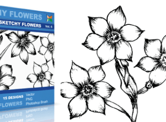 vector_sketchy_flowers_6_