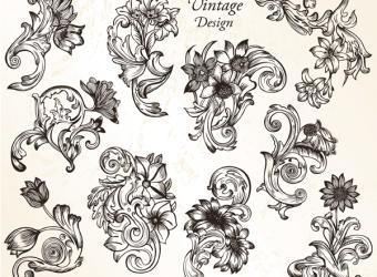 vintage-flower-ornaments-vector-photoshop-brushes-set-1