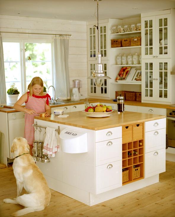 Die Küche unseres Fereinhauses in Stockholm