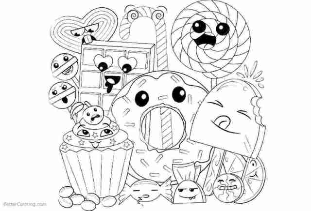 Cute food coloring pages – Download Free Coloring pages, Free