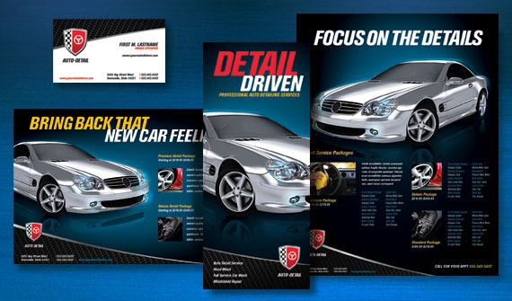 Put a polish on your auto detailing business with a bold for Automobile brochure design