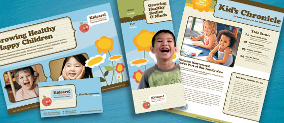Child Development Center Brochure, Newsletter, Stationery, and Flyer & Ads Designs