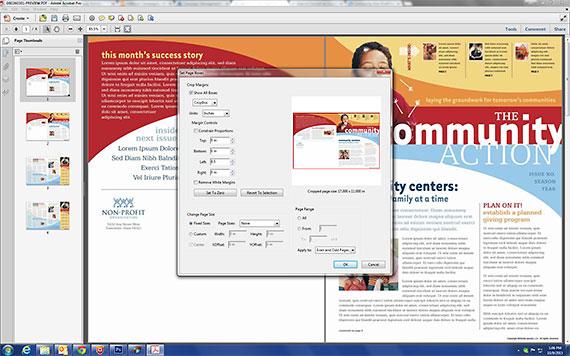 Crop 11x17 Page PDF in Adobe Acrobat
