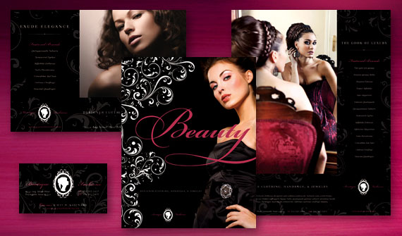 Dress up your fashion clothing jewelry boutique for Brochure design for boutiques