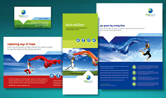 Take action with green marketing materials for a green for Graphic design consultant