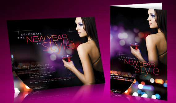 New Years Celebration Invitation & Poster Designs