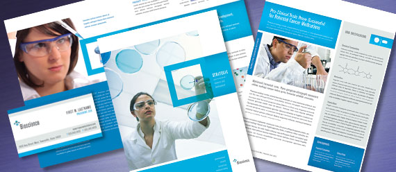 Science & Research Brochure, Stationery, Datasheet, and Tri-Fold Brochure Designs