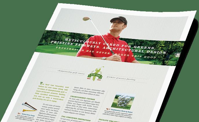 Sports & Fitness Marketing Brochures Flyers Postcards