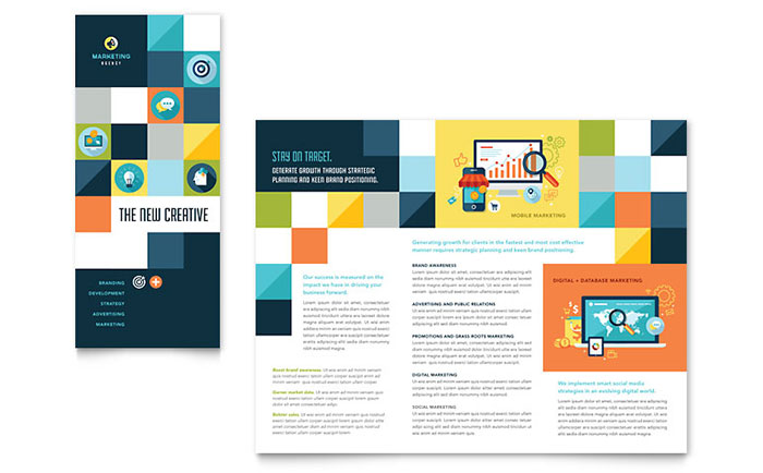 Advertising Company - Trifold Brochure Design Example