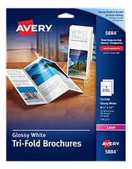 Using stocklayouts templates with avery papers for Avery tri fold brochure template