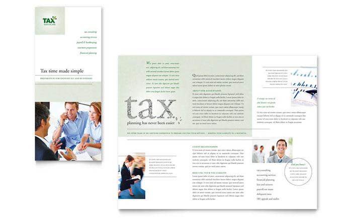 Accounting Brochure Design Idea