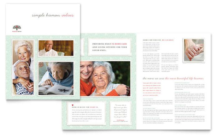Senior Care Brochure Design Idea - Brochure Cover