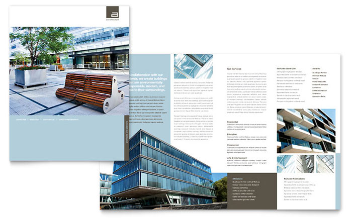 Architect Brochure Design Idea - Brochure Cover