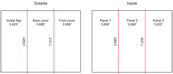 2 panel brochure template - what are the dimensions of a tri fold brochure