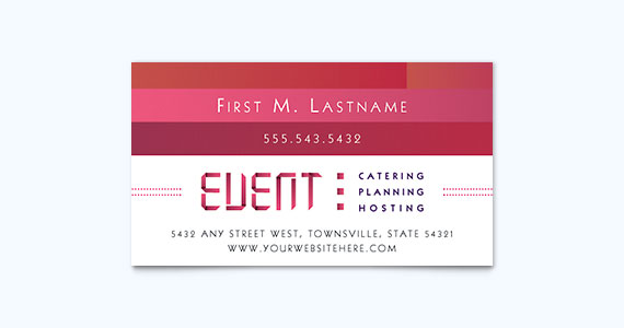 Catering Business Card Design Idea