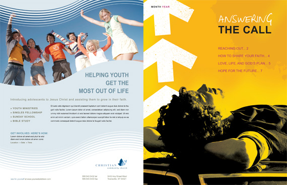 Church Ministries Magazine Spread 1