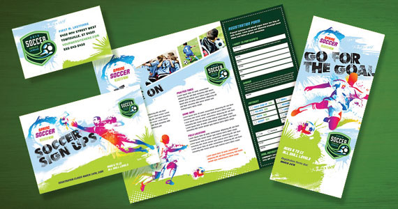 Youth Soccer Brochures, Flyers, Postcards