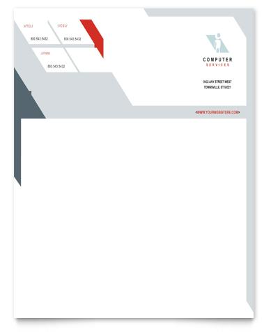 Computer Solutions Letterhead Design