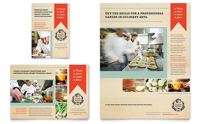 Culinary Arts School - Flyer & Ad Design Example