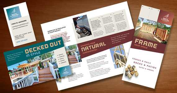 Decks & Fencing Business Marketing Materials - Graphic Design Ideas