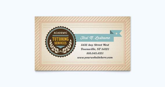 Education Business Card Design Idea