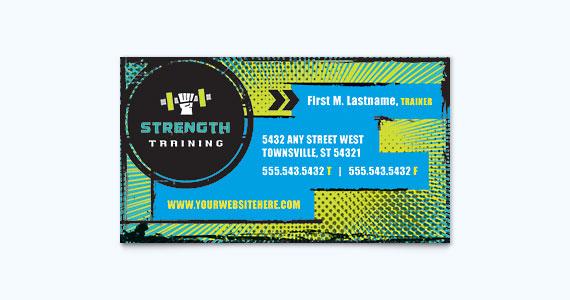 Fitness Business Card Design Idea