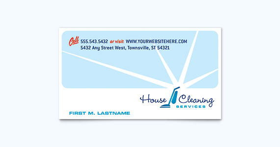 House Cleaning Business Card Design Idea
