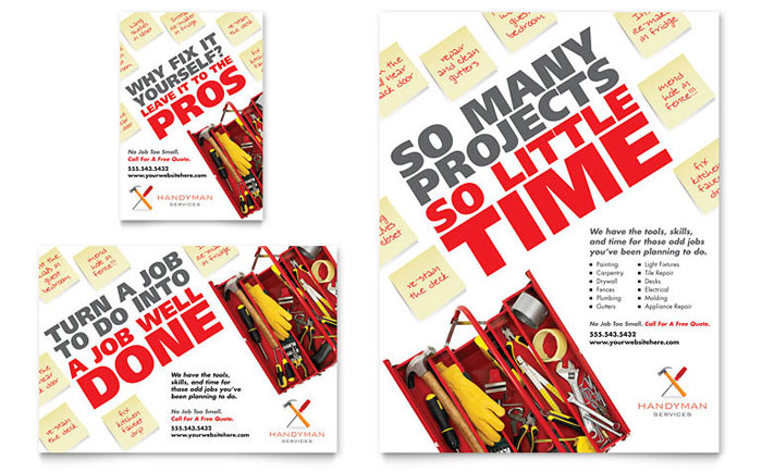 InDesign Template - Handyman Flyer Example
