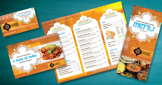 Indian Restaurant Menu, Flyer, Ads and Postcard Ideas ...