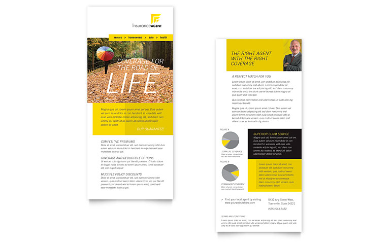 Insurance Agent DL Flyer Design