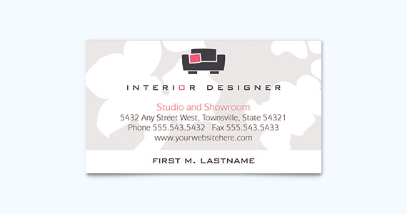 25 graphic design examples of business cards stocklayouts blog for Interior designers business cards