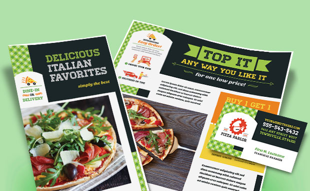 Pizza Parlor - Menu, Postcard, Flyer, Advertisement - Graphic Design Ideas