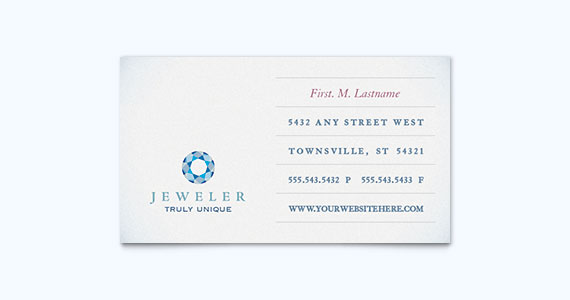 Jewelry Business Card Design Idea