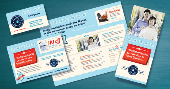 Make an impression with marketing designs for laundry for Laundry flyers templates