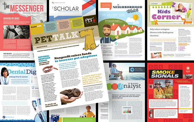35 newsletter names titles and design ideas stocklayouts blog